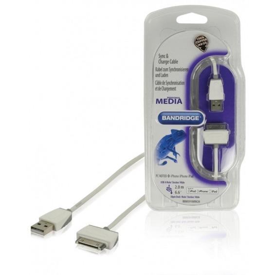 Cable de carga y sincronización para iPod/iPhone/iPad de 2.00 m