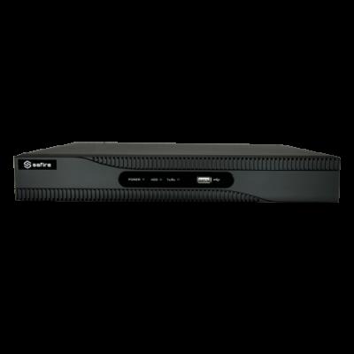 Videograbador 5N1 Safire - 4 Ch Hdtvi / Hdcvi / Ahd / Cvbs / 4 Ip (Extra) - Resolución 5 Mpx | Compresión H.265 Pro+ - Ancho De Banda 32 Mbps - Salida Hdmi Full Hd, Vga - Admite 1 Disco Duro | Audio