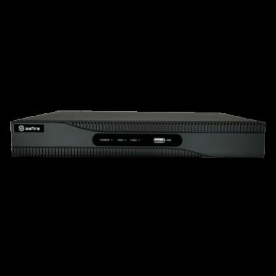 Grabador Nvr Para Cámaras Ip - 8 Ch Vídeo / Compresión H.265 - Resolución Máxima 8.0 Mpx - Ancho De Banda 60 Mbps - Salida Hdmi 4K Y Vga - Admite 1 Disco Duro