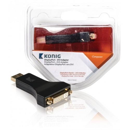 Adaptador DisplayPort - DVI de DisplayPort macho a DVI-D hembra; 1 ud. en gris