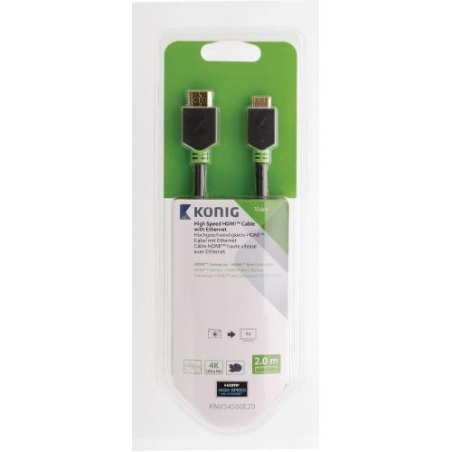 Cable de Alta Velocidad HDMI™ con Conector Ethernet HDMI™ a Conector Mini HDMI™ de 2,00m en
