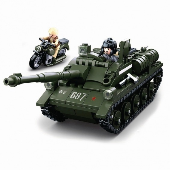 Building Blocks WWII Serie SU-85 Allied Tank Destroyer