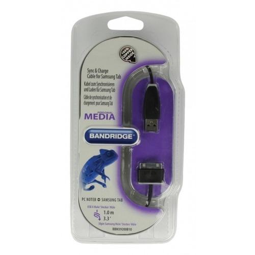 Cable de carga y sincronización para Samsung TAB de 1.00 m