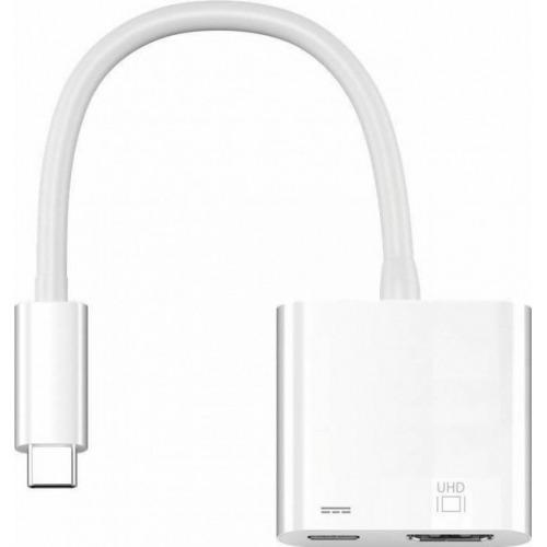 adaptador USB 3.1 (tipo C) a HDMI mas alimentación