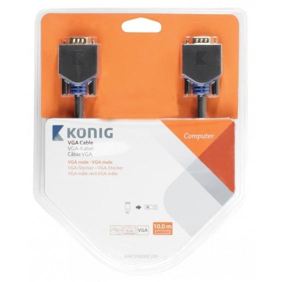 Cable VGA de VGA macho a macho de 10,0m en gris
