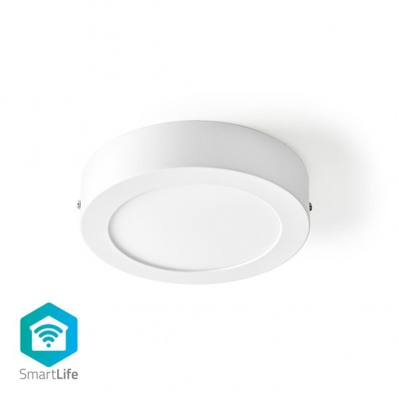 Luz de Techo Wi-Fi Inteligente | Redonda | Diámetro de 17 cm | Blanco Cálido a Frío | 800 lm | 12 W | Diseño Compacto | Aluminio