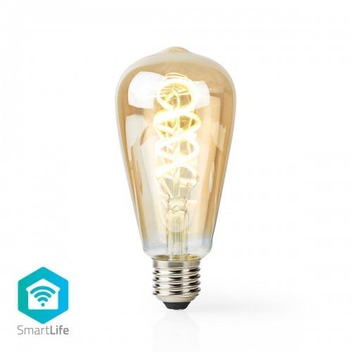 Bombilla LED Wi-Fi de Filamento de Blanco Cálido a Frío | Trenzada | E27 | ST64 | 5,5 W | 350 lm