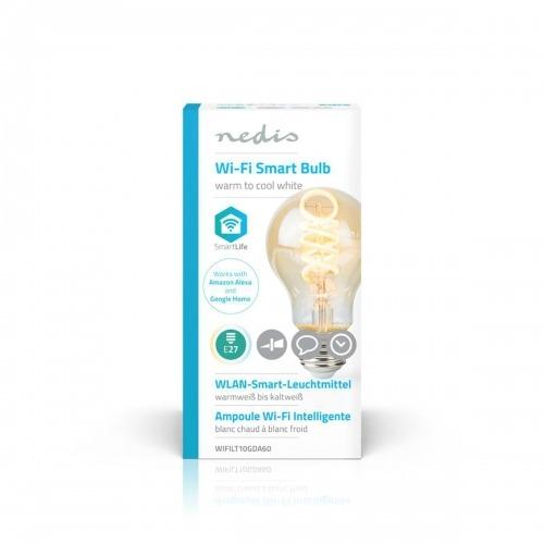 Bombilla LED Wi-Fi de Filamento de Blanco Cálido a Frío | Trenzada | E27 | A60 | 5,5 W | 350 lm