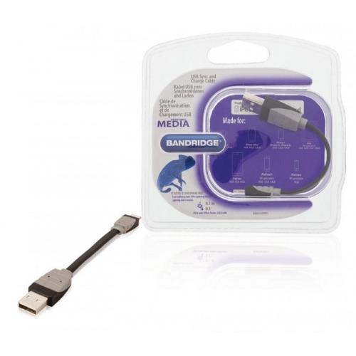 Cable USB de carga y sincronización USB A macho - macho Lightning de 8 pines de 0,10 m en color ne
