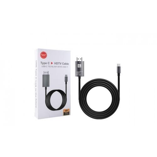 CABLE USB-C A HDMI M/M DE 2 METROS