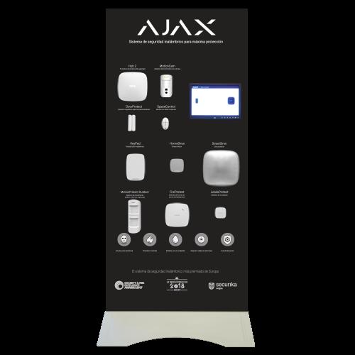 Expositor Demo de pie Ajax - Kit de alarma profesional Grado 2 - Ajax MotionCam para envío de imágenes - Comunicación Ethernet y GPRS - Inalámbrico 868 MHz Jeweller - App Móvil y Software PC / Color b