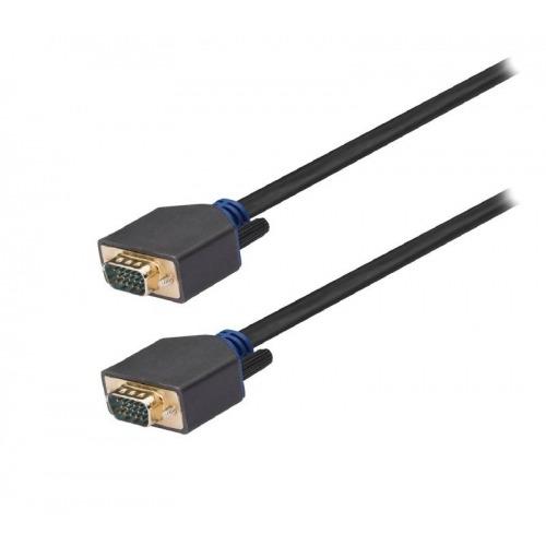 Cable VGA de VGA macho a macho de 5,00 m en gris