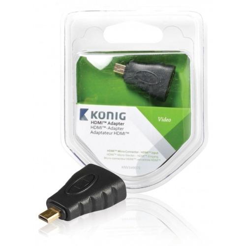 Adaptador HDMI™ de Conector Micro HDMI™ a entrada HDMI™, 1 ud. en gris