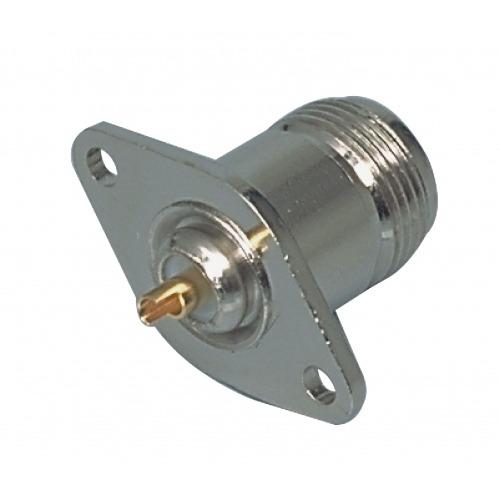 Conector N Hembra Metal Plata