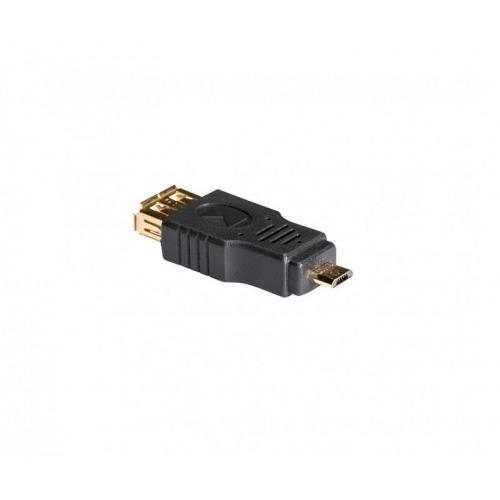 Adaptador USB 2.0 de Micro B macho a A hembra, 1 ud. en gris