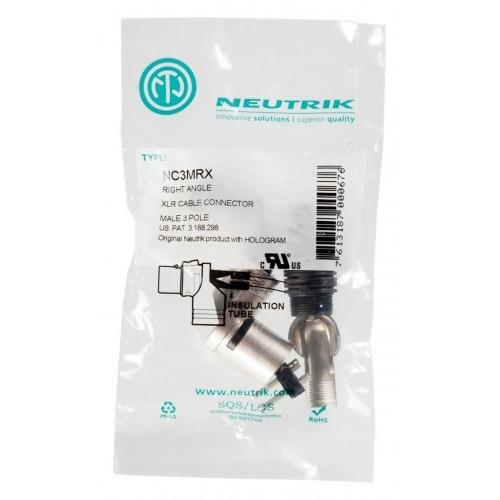 XLR cable plug 90° 3 N/A XX/RX Conexión de Soldadura Niquelado