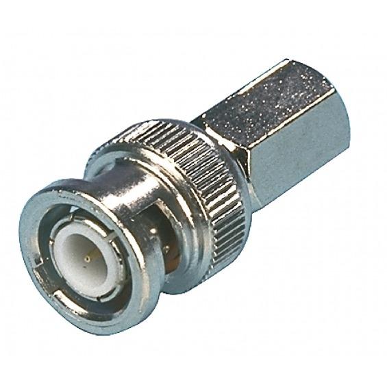 Conector BNC 6.8 mm Macho Metal Plata