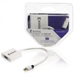 Cable adaptador Mini DisplayPort - VGA de mini DisplayPort macho a VGA hembra de 0,20m en blanco