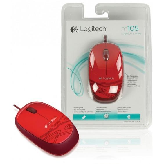 Ratón M105 en color rojo