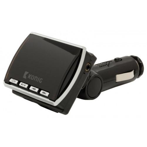 Transmisor FM negro con mando a distancia