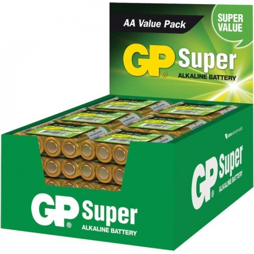 Expositor de pilas alcalinas AA/LR6 1.5 V Super 48 packs de 4 pcs