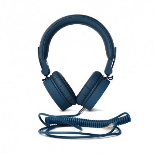 Auriculares Diadema 3.5 mm con micrófono color índigo