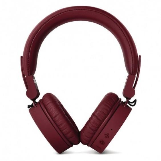 Auriculares inalámbricos Bluetooth con micrófono color ruby