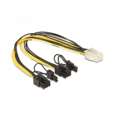 Cable De Alimentación Pci Express 6 Contactos Hembra - 2 X 8 Contactos Macho 30 Cm