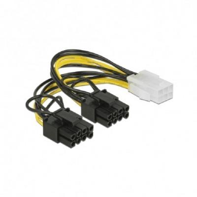 Cable De Alimentación Pci Express 6 Contactos Hembra- 2 X 8 Contactos Macho 15 Cm