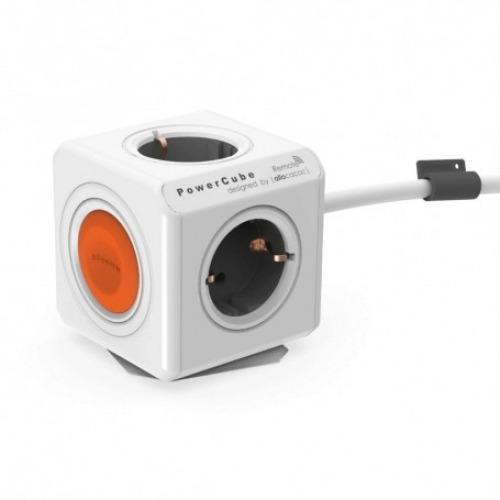 Toma enchufes PowerCube de 4 conexiones gris con interruptor + cable de 1,5m