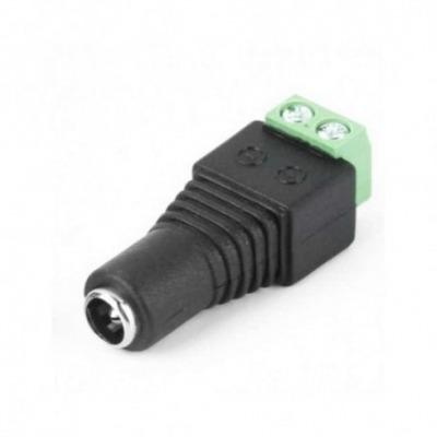 Conector Par Trenzado Hembra 2.1 X 5.5 Mm Para Cctv