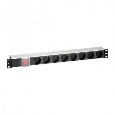 Regleta Para Rack 19 De 8 Tomas Con Interruptor Y Cable 2M