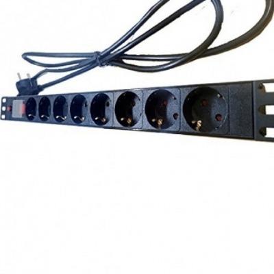 Regleta Para Rack 19 Con Protección De 8 Tomas Con Interruptor Y Cable 2M