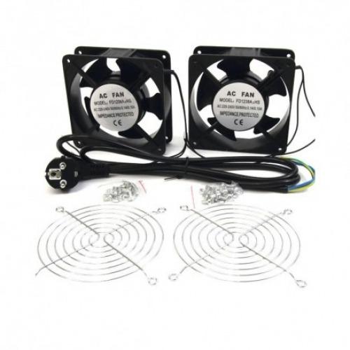 Kit de 2 ventiladores de 12cm para armario Rack